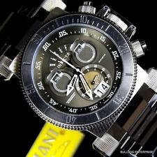Mens Invicta Coalition Forces Black Distressed Steel Chronograph Swiss Watch New