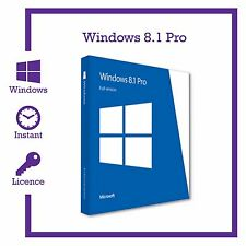 Microsoft windows 8.1 pro professional 32/64bit produit authentique clé d'activation