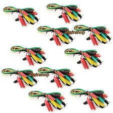 100pcs Double-ended Test Leads Alligator Crocodile Roach Clip Jumper Wire WP