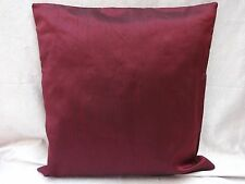 """wine shade cushion cover pillow case throw faux silk solid plain color 20""""x20"""""""