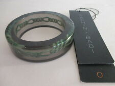 SACHIN & BABI Green Resin Link Wide Bangle bracelet NIP Tags $225