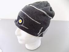 REEBOK $75 MENS NHL Beanie HAT WARM KNIT Acrylic One Size Gray BIG SALE  S11