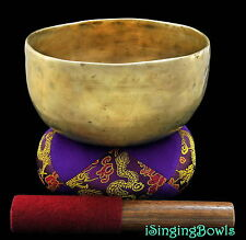 "Antique Tibetan Singing Bowl: Thado 6 7/8"",ca. 18th Century, G#-8 & C#+10. VIDEO"