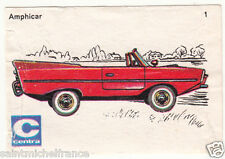 Amphicar 770 Voiture Car Germany ETIQUETTE BOITE ALLUMETTES MATCHBOX LABEL 1970