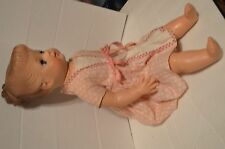 "Vintage 1950s Vinyl 19"" doll w/ molded hair sleepy green eyes Good condition"