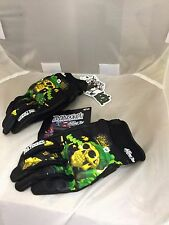 JOE ROCKET MENS  2XL XXL  ARTIME JOE MOTORCYCLE GLOVES GREEN DESTROYER OF SOUL