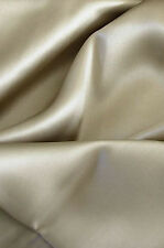 """Luxurious 100% silk charmeuse Fitted Bottom deep pocket sheet King Taupe 78x80"""""""