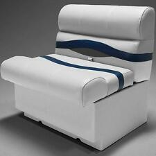 "Premium 28"" Pontoon Boat Seats In Gray, Blue and Charcoal"