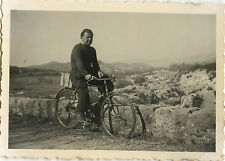 PHOTO ANCIENNE - VINTAGE SNAPSHOT - VÉLO BICYCLETTE HOMME MODE - BIKE BICYCLE