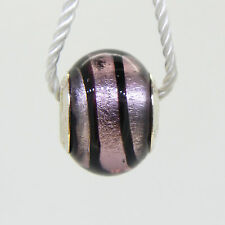 PERSONA STERLING SILVER ITALIAN GLASS LAVENDER WRAP CHARM   NEW WITH TAG
