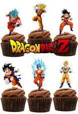 Dragon Ball Z Edible Wafer Card Stand up Cake toppers x 24 (Thick Quality wafer)