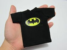 "1/6 Scale Tee Black Short Sleeves T-Shirt Batman For 12"" Action Figure"