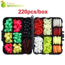 220pcs Soft Lures Mixed Beads and Lures Imitation Baits Carp Fishing Tackle Kit