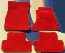 HONDA CIVIC & TYPE R 2012 ON 5 DOOR MODEL BRIGHT RED CAR FLOOR MATS WITH CLIPS