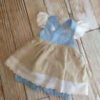 Blue eyelet dress for your well dressed girl handmade by pink wolf boutique 6m-6