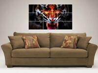 """TIGER ROAR MOSAIC 35""""X25"""" INCH WALL POSTER PSYCHEDELIC"""