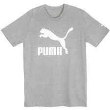 Puma Archive Life Tee Mens 836990-06 Grey White Logo Cotton T-Shirt Size L
