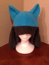 Pokemon Riolu Lucario Fleece Hat Cosplay Cap Costume Blue Halloween Pokemon Go