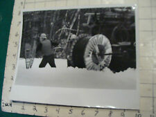 vintage AT&T Photo: ORIGINAL--1960'S PULLING WIRE IN HEAVY SNOWSTORM