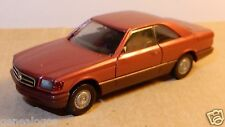 MICRO HERPA HO 1/87 MERCEDES BENZ 560 SEC ROSE METAL no BOX