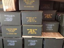 Twelve(12) 50 Cal Ammo Cans Empty Grade 2 Shipping Included US Gov surplus M2A1