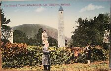 Irish Postcard Round Tower Tourists GLENDALOUGH Wicklow Ireland Fergus O'Connor