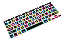 Colorful Big Font Silicone Keyboard Cover protector film Skin For MacBook Pro 13