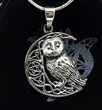 Sterling Silver Owl on pentagram Moon necklace Lisa Parker Licensed Product gift