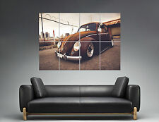 Vintage Volkswagen Beetle Old Classic Wall Art Poster Grand format A0
