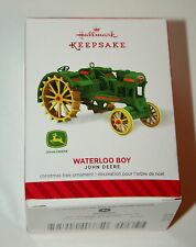 Hallmark John Deere Waterloo Boy Farm Tractor Christmas Ornament 2014 New Box