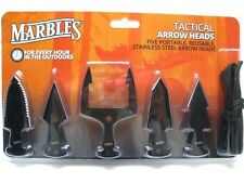 MARBLES Black Tactical ARROWHEAD 5 Piece Gig Knife SURVIVAL Set Kit New! MR377