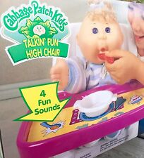 RARE 1996 CABBAGE PATCH TALKIN' FUN HIGH CHAIR NEW IN BOX! BABY DOLL Mattel