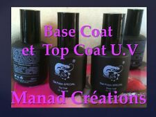 lot gel uv base +  top coat semi permanent  soak off 15 ml kit