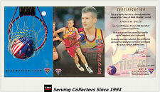 1994 Futera NBL Trading Cards S2 SAMPLE Best Of Both World BW3: Andrew Gaze