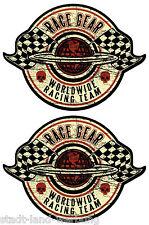 89 King Kerosin Set   2x Race Gear  Aufkleber/Hot Rod/Rockabilly/Oldschool/Retro