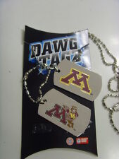 minnesota golden gophers dawg tagz necklace key chain set collegiate ncaa 49417