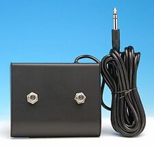 """FOOTSWITCH FOOT SWITCH FITS PEAVEY ¼ """" PLUG TWO BUTTON GUITAR & BASS AMPLIFIERS"""
