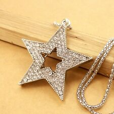 Wholesale crystal Star chain Mosaic crystal charm long necklace L534