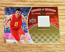 2010 Upper Deck World of Sports Yao Ming Jersey Houston Rockets All Sport