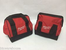 """Two (2) New Milwaukee Heavy Duty Contractors Bags M18 M12 Combo Kit 11""""x10""""x10"""""""
