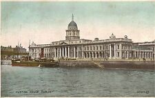 Dublin,Ireland,Customs House,Used,2 Eire Stamps,1907