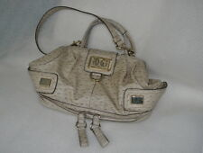 "Guess ""Tula"" Stone Faux Ostrich Dr Satchel Hobo Authentic Zippered Base EUC!!"
