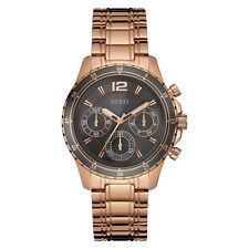 NEW GUESS WATCH for Women * GREY DIAL * Shiny Rose Gold Tone Bracelet * U0639L2