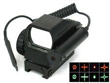 New Tactical Holographic Red/ Green Dot 4 Reflex Laser Sight Pressure Switch Gun