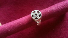 Beautiful Engraved Star Solid Band Ring 925 Sterling Silver *Size 12 *A699