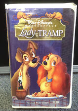 Disneys Lady and the Tramp VHS 1998 Fully Restored Clam shell Kids Child Family