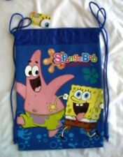 Blue Spongebob Drawstring Backpack Child School Sling Tote Gym Bag ��