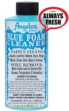 Angelus 815 Blue Foam Leather Suede Nubuck Fabric Nylon Canvas Stain Cleaner 8oz