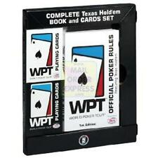 WORLD POKER TOUR COMPLETE TEXAS HOLD'EM BOOK AND CARDS SET *NEW IN BOX*