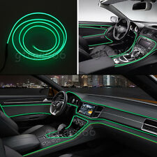 2M Universal Car Interior LED Decorative Wire Atmosphere Cold Light Strip Green